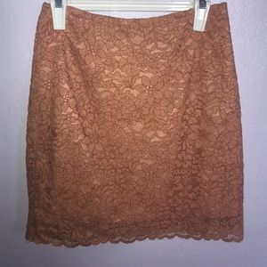 Peach H&M Floral Laced Skirt 🌸 🌼